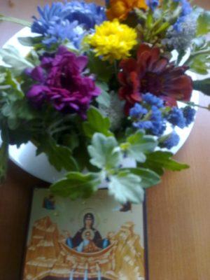 flori şi icoană izv tamaduirii jn